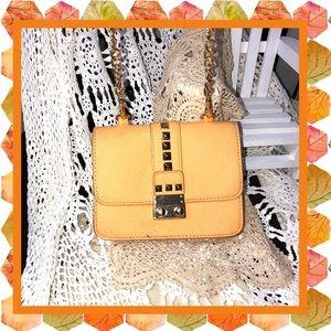 BCBG Paris Orange Crossbody Embellished Bag USED